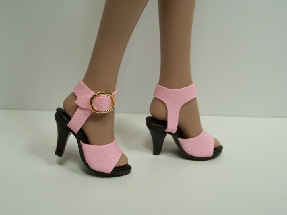 bright pink dazzling high heel hi heel doll shoes for 16