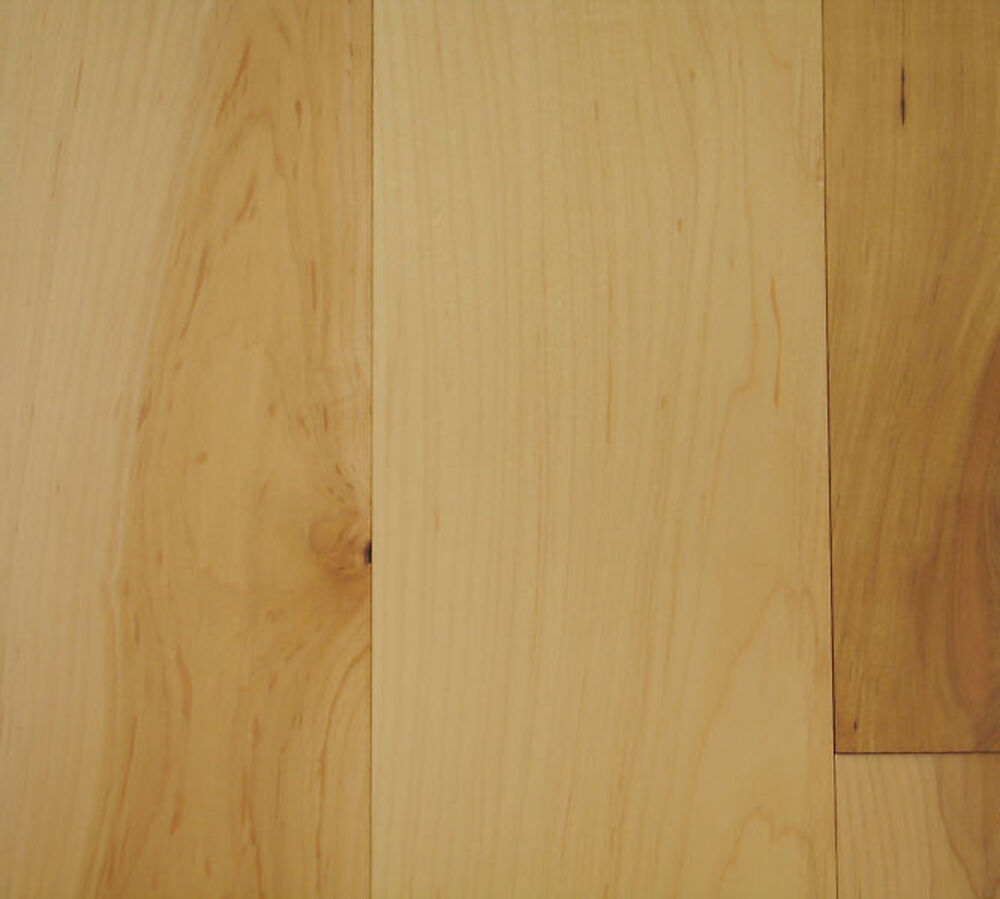 5 Maple Natural Grade Solid Hardwood Flooring Uf