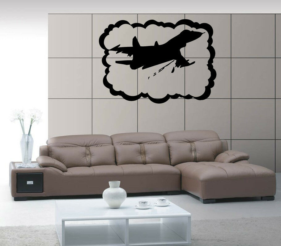 Airplane airforce jet aviation air mural wall art decor for Aviation wall mural