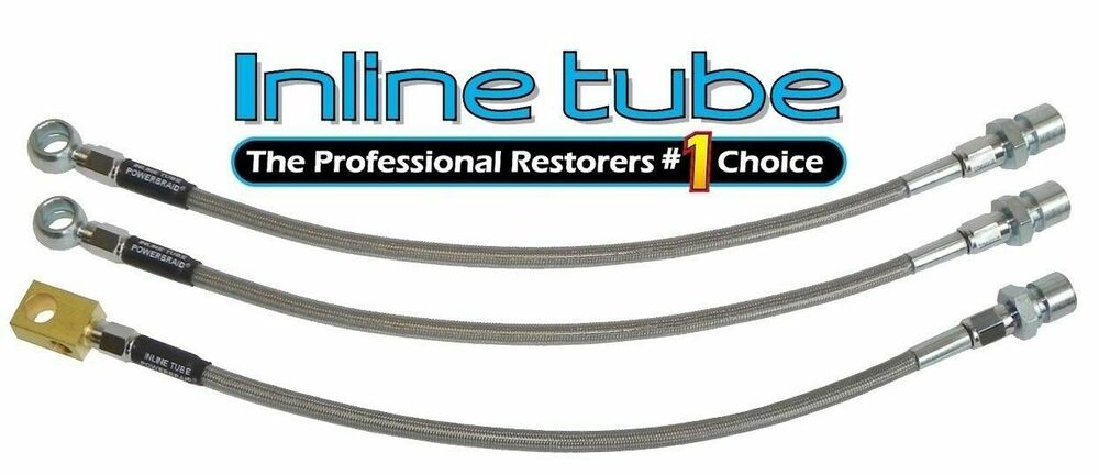 72 Nova Braided Brake Hoses : Gm a body front disc rear drum stainless braided