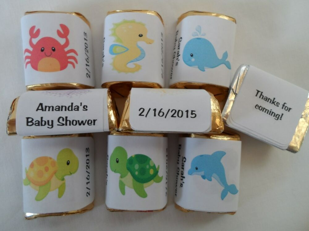 30 personalized under the sea theme baby shower birthday party candy