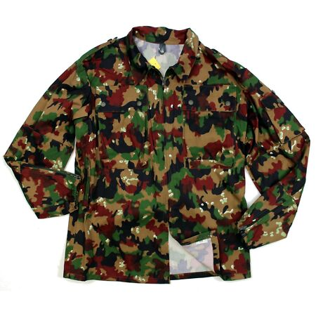 img-GENUINE SWISS ARMY COMBAT SHIRT / JACKET in M83 ALPENFLAGE CAMO