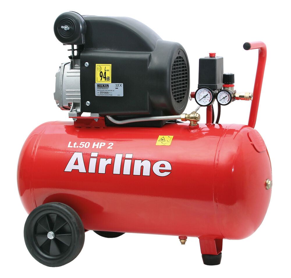 Sip Airline 50ltr Air Compressor Direct Drive 2hp Ideal