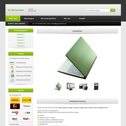 Ebay template listing templates design shoptemplate for Free ebay templates html download