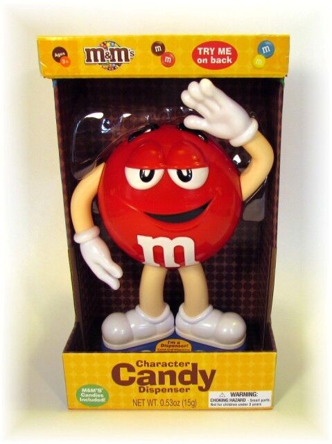 M s red hot character candy dispenser new in box ebay