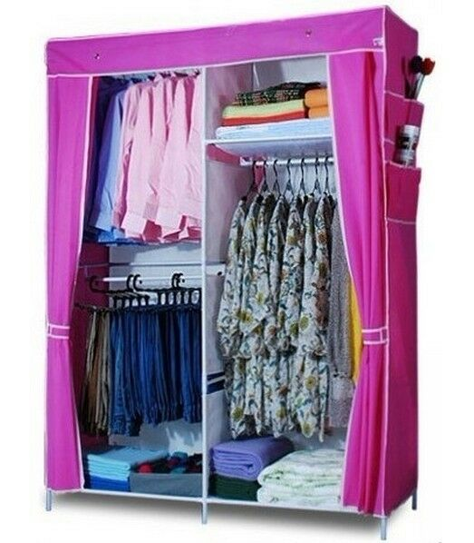 Large Portable Wardrobe Organizer Clothes Garment Storage