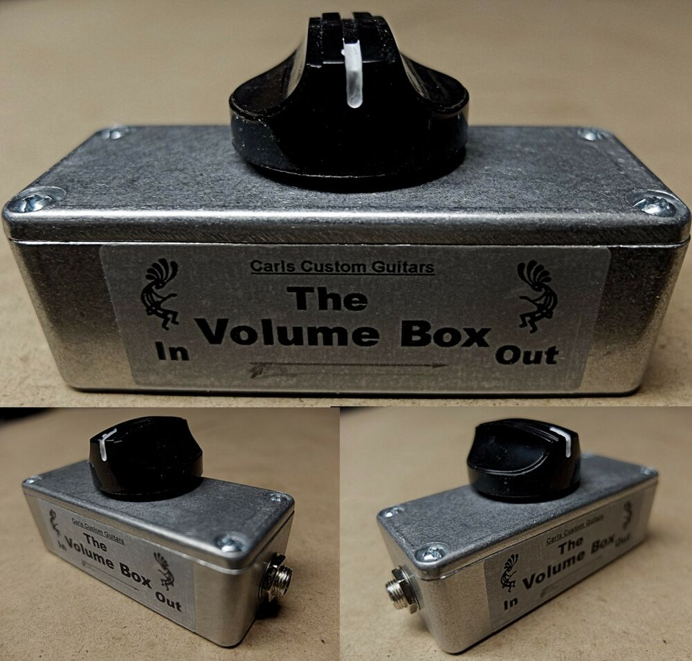 metal volume box guitar amp audio taper effects loop master volume attenuator 13964543803 ebay. Black Bedroom Furniture Sets. Home Design Ideas
