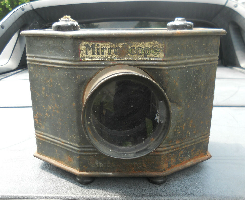 antique 1912 magic lantern mirroscope complete with bulbs ebay. Black Bedroom Furniture Sets. Home Design Ideas