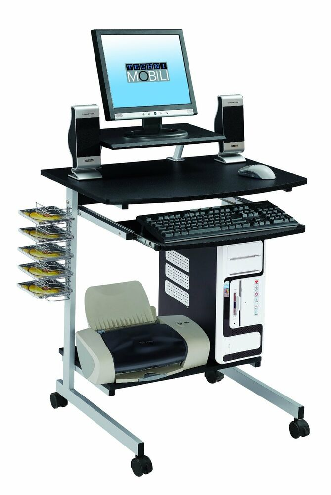Laptop Computer Rolling Cart Stand Table Storage Desk New | eBay