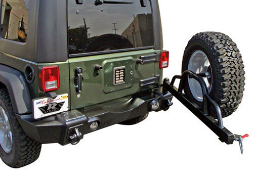 Rampage Rear Recovery Bumper W Tire Carrier 07 16 Jeep