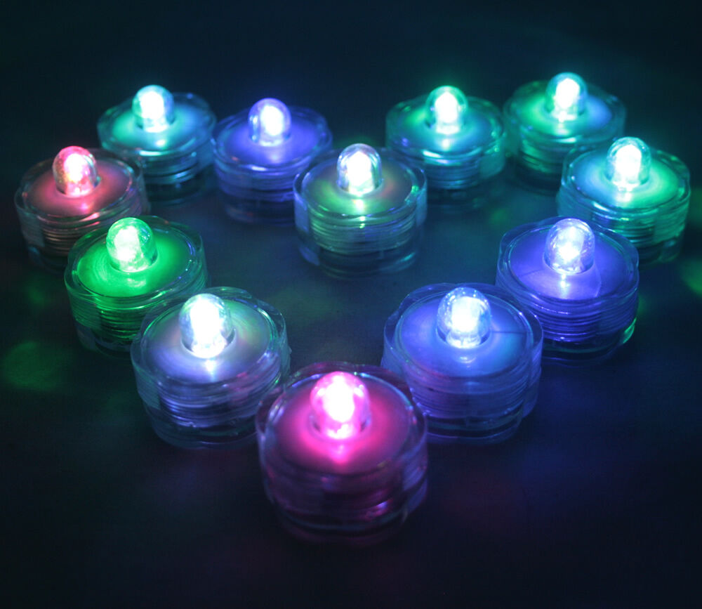 New 12 Pcs Multi Color Changing Underwater Led Submersible