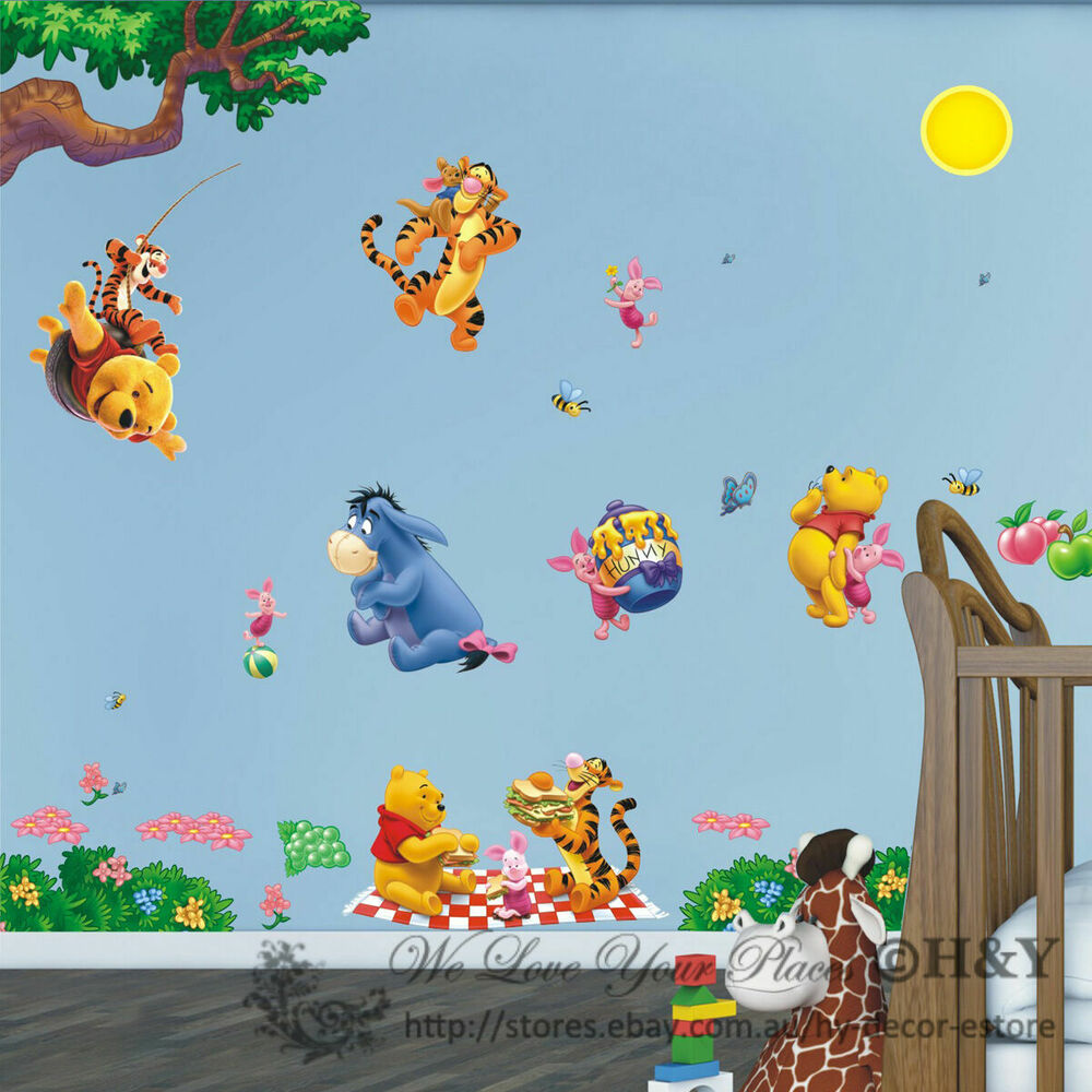 Large Winnie The Pooh Removable Wall Sticker Vinyl Decal