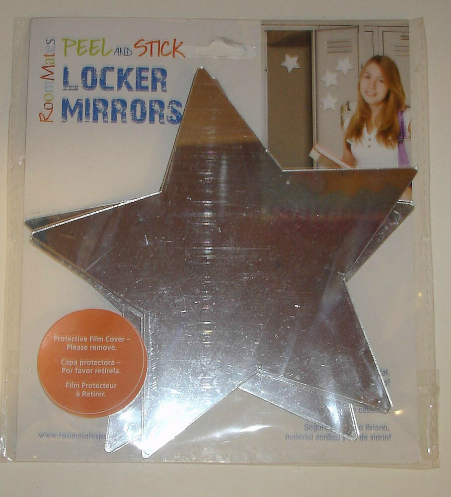 New roommates stars peel and stick mirror wall decal 4 for 4 x 5 wall mirror