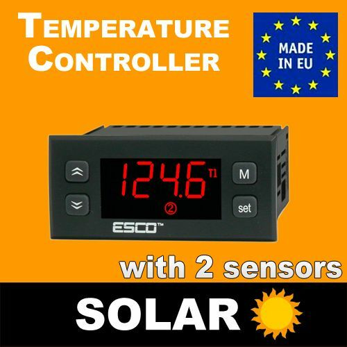 Solar Panel Differential Temperature Controller For Hot