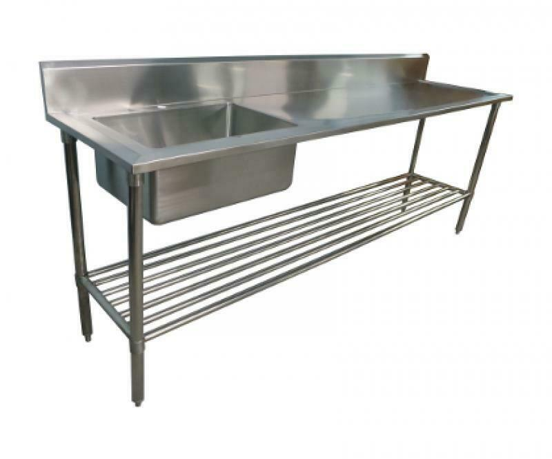 2400 x 600mm new commercial single bowl kitchen sink 304