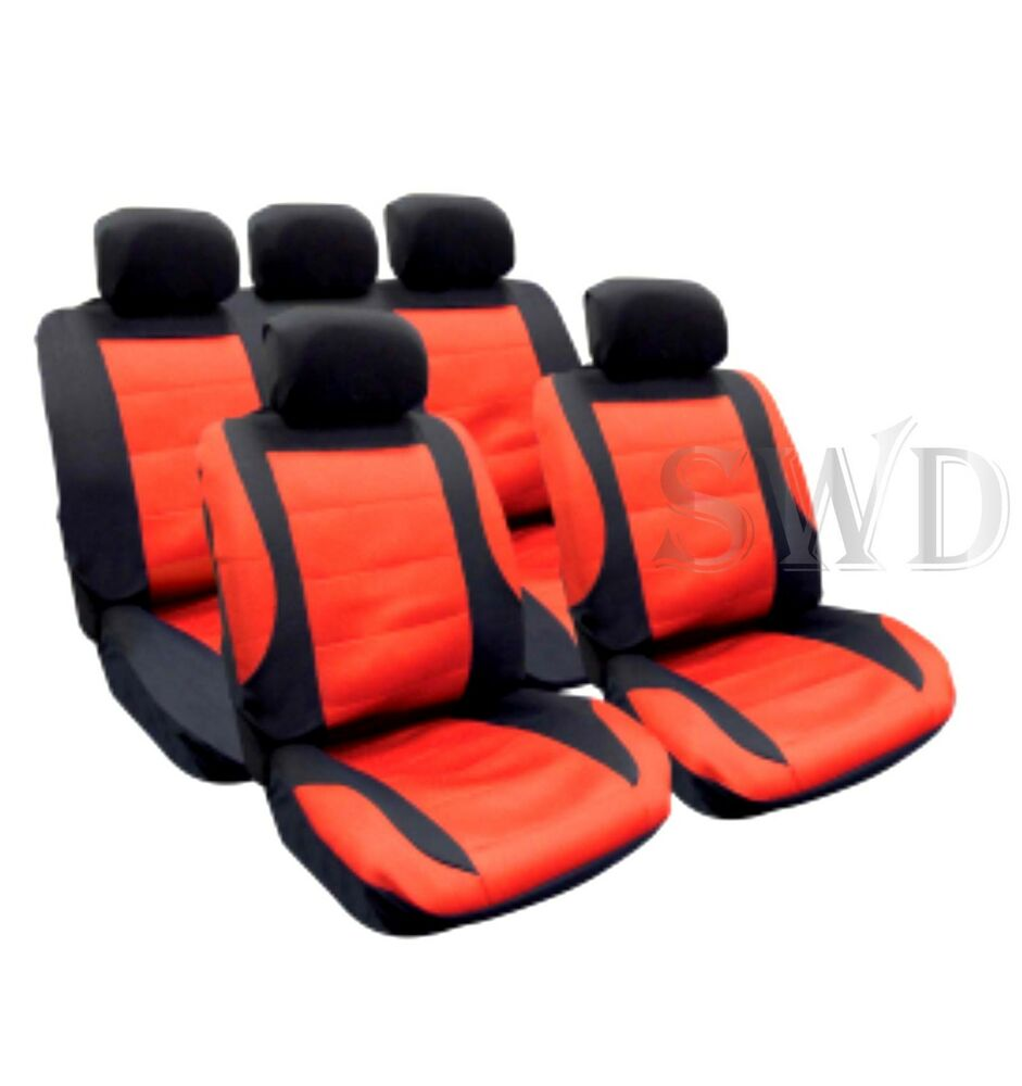 cool mesh car seat cover set red custom racing sports universal fit protectors ebay. Black Bedroom Furniture Sets. Home Design Ideas