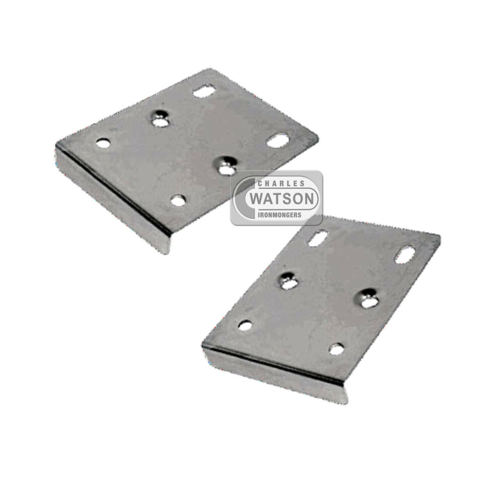 PAIR (2x) Hinge Repair Plate Kitchen Unit Cupboard Cabinet