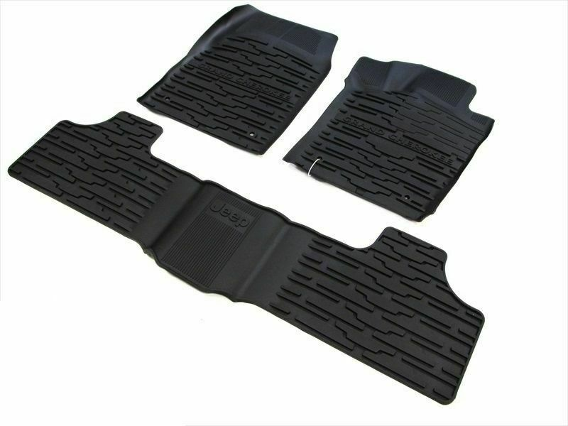JEEP GRAND CHEROKEE ALL WEATHER RUBBER SLUSH MATS FRONT ...