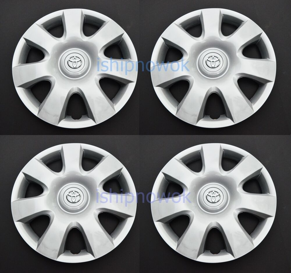 "Hubcaps For 2008 Toyota Corolla: NEW Set Of FOUR (4) Toyota Camry Corolla 15"" Hubcap Wheel"