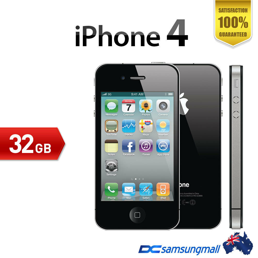 apple iphone 4 32gb mint condition unlocked black. Black Bedroom Furniture Sets. Home Design Ideas