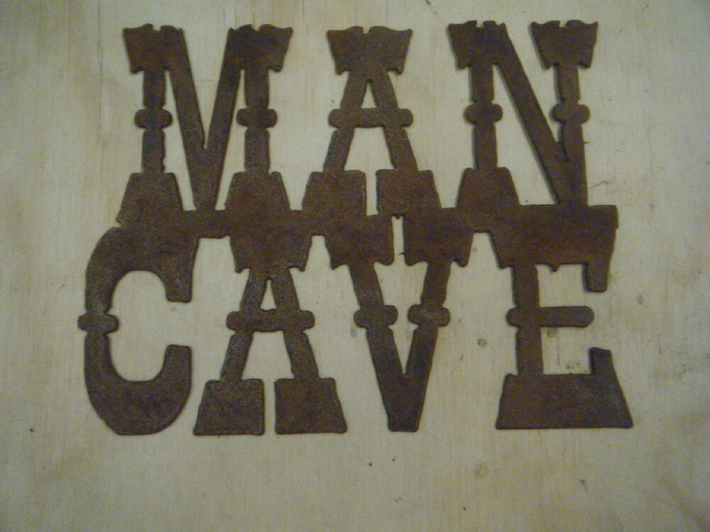 Man Cave Signs Metal : Free shipping rustic rusted metal man cave sign wall