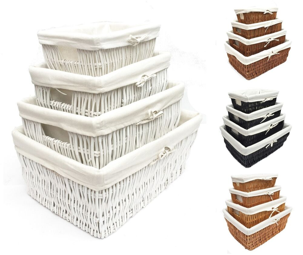 Empty Kitchen Cupboard: LARGE BIG WIDER WICKER KITCHEN TOY CUPBOARD STORAGE BASKET