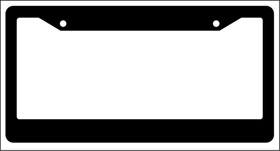Blank Black License Plate Frame 2 Pack Auto Accessory