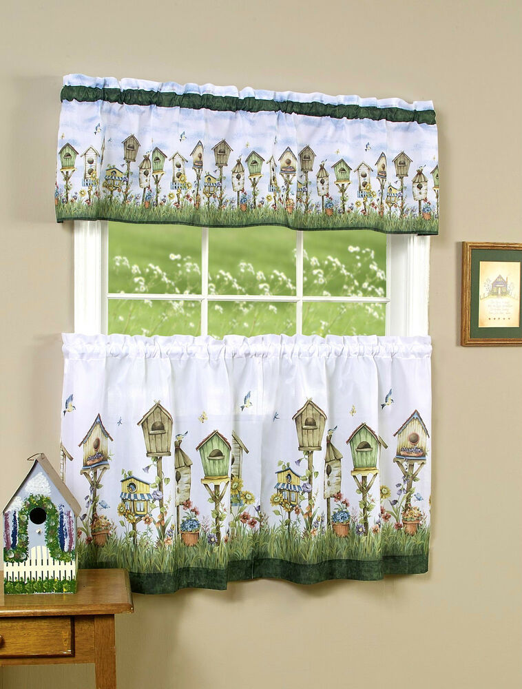 Birdhouse™ Kitchen Curtain Set by Goodgram® Assorted Sizes | eBay