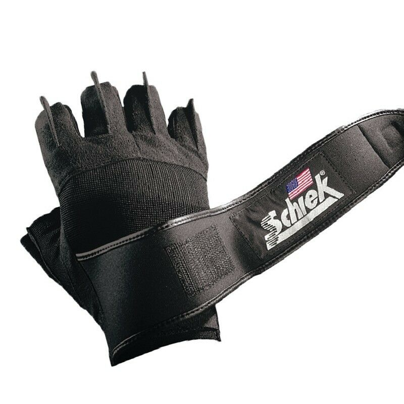 Weight Lifting Gloves With Wrap Around Wrist: Schiek Platinum Series Lifting Gloves Gel Padded WRIST