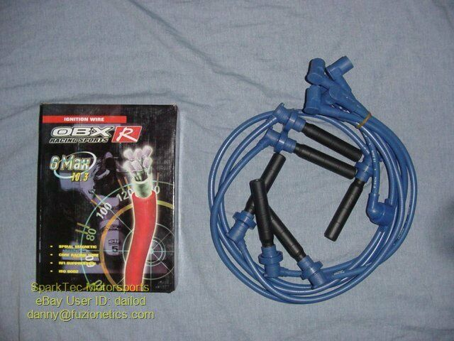 obx raciing sports blue spark plug ignition wires 98 99. Black Bedroom Furniture Sets. Home Design Ideas
