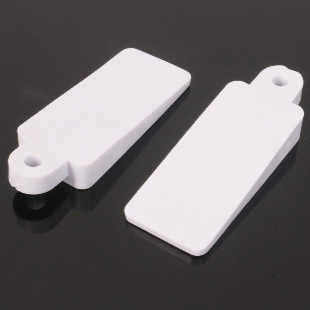 2 X White Rubber Lift Up Sash Window Wedge Jammer Wedger