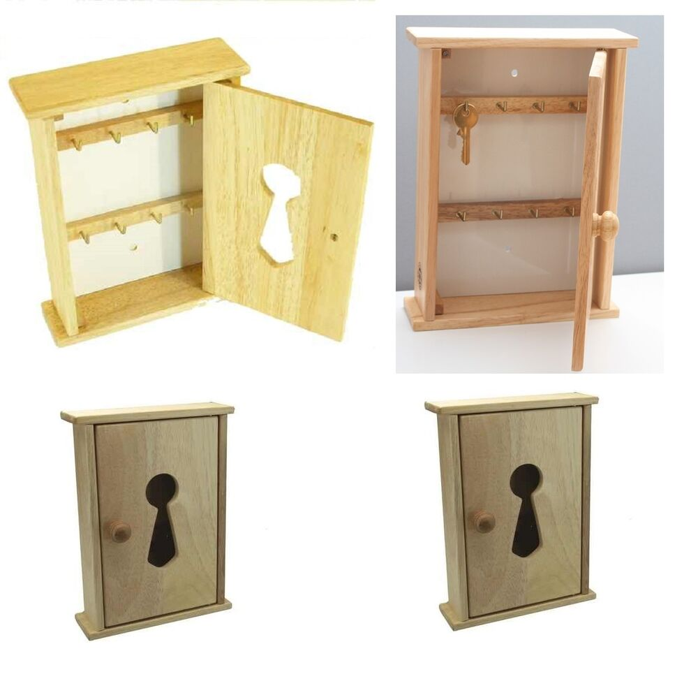 Beech wood wooden wall key cupboard cabinet rack holder