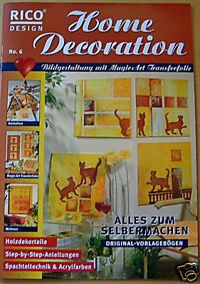 Rico Design Home Decoration Nr 6 Bilder Holzdekorteile Ebay