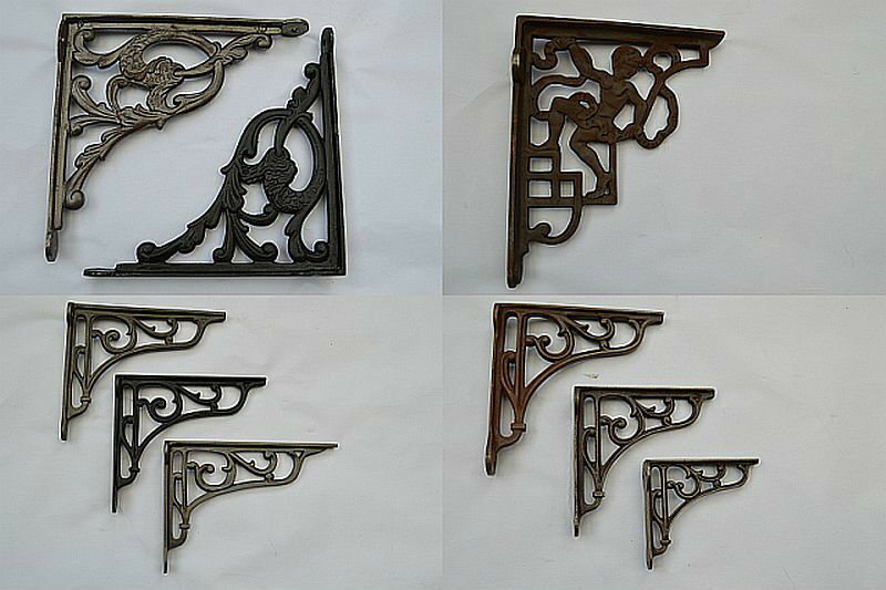 Cast Iron Vintage Old Styl Scroll Shelf Support Book Sink