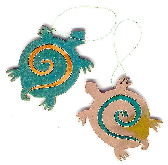 Coppercutts Mimbres Turtle Ornament Southwest Copper W Ornaments To Color For Primary
