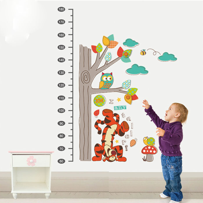 winnie the pooh tiger removable wall stickers height chart art mural