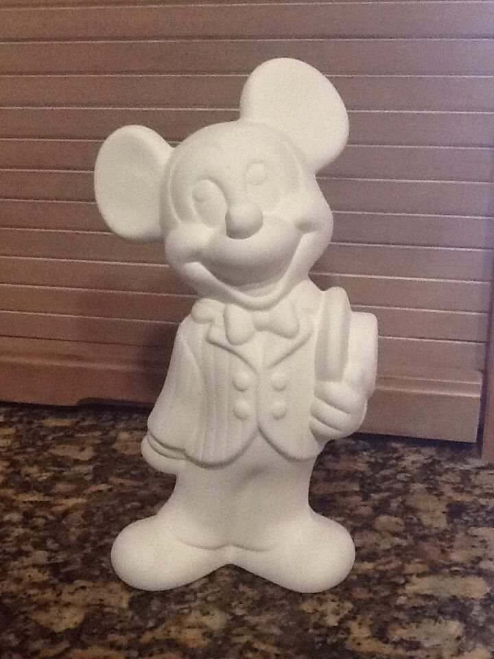 Mickey mouse disney ceramic bisque u paint ready to paint for How to make ceramic painting