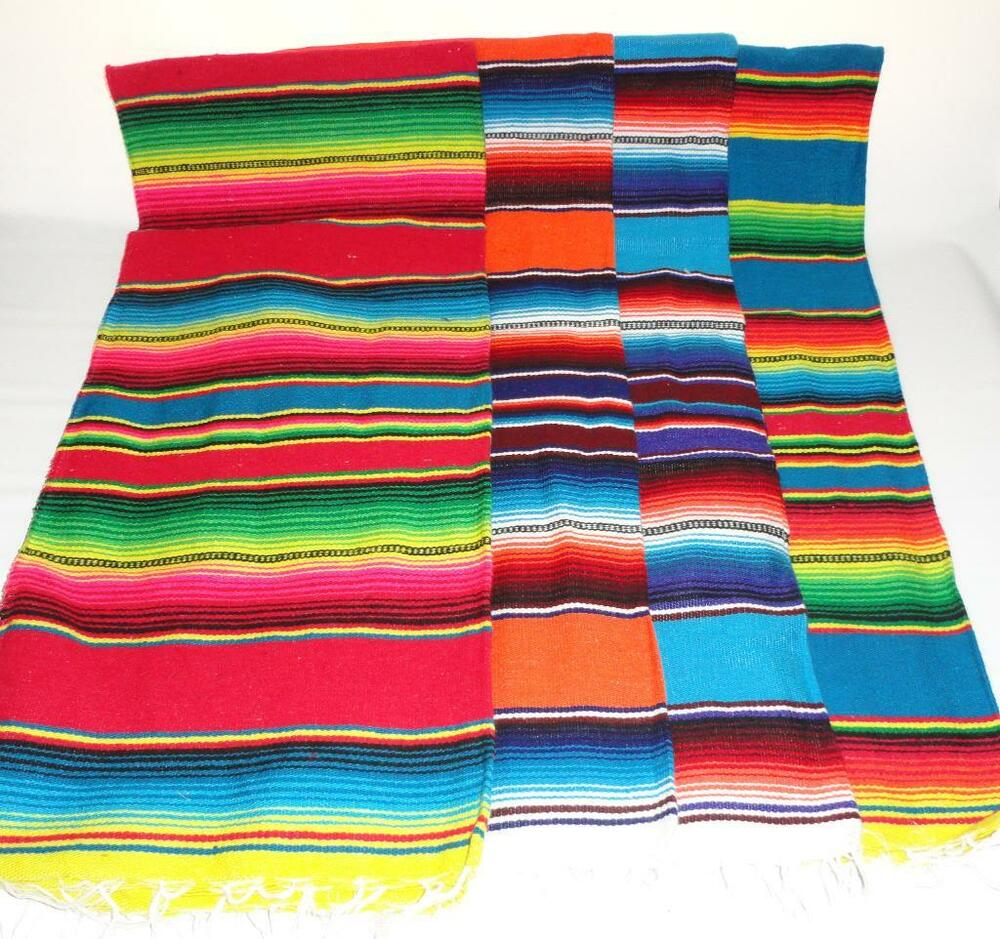 39 X 19 In. Sarape Serape Mexican Blanket, Saltillo
