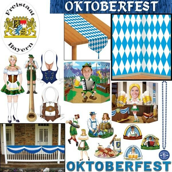 bayern deko oktoberfest party dekoration mottoparty wiesn blau weiss raute set ebay. Black Bedroom Furniture Sets. Home Design Ideas