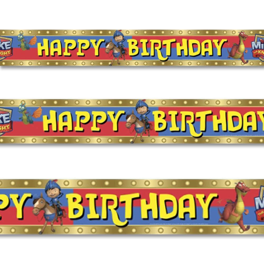 15ft Mike The Knight Medieval Happy Birthday Party Foil