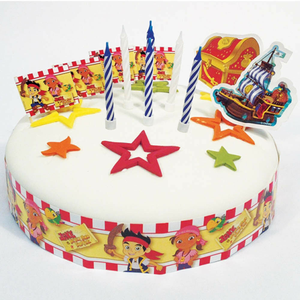 Details About 19 Piece Jake And The Never Land Pirates Party Birthday Cake Decorating Kit