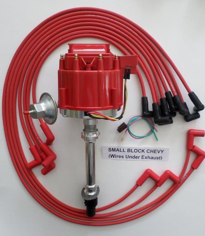 SMALL BLOCK CHEVY RED HEI Distributor & 8mm SPARK PLUG