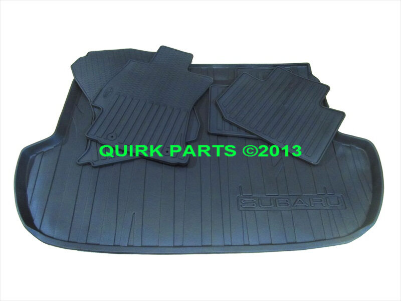 2014 subaru forester black all weather floor mats rear. Black Bedroom Furniture Sets. Home Design Ideas