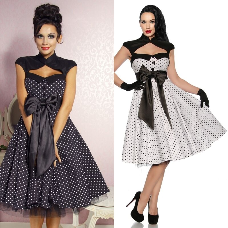 kleid rockabilly 50er jahre festlich partykleid kleidung kleid damenmode club ebay. Black Bedroom Furniture Sets. Home Design Ideas