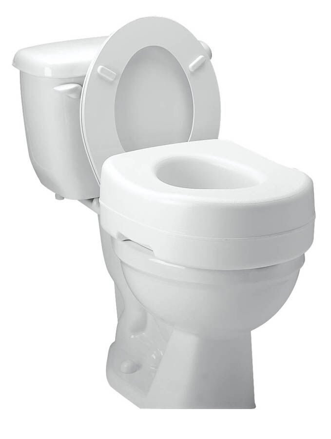 Raised Toilet Seat Elevated Carex Elevator Standard Elongated Safety B302CO N