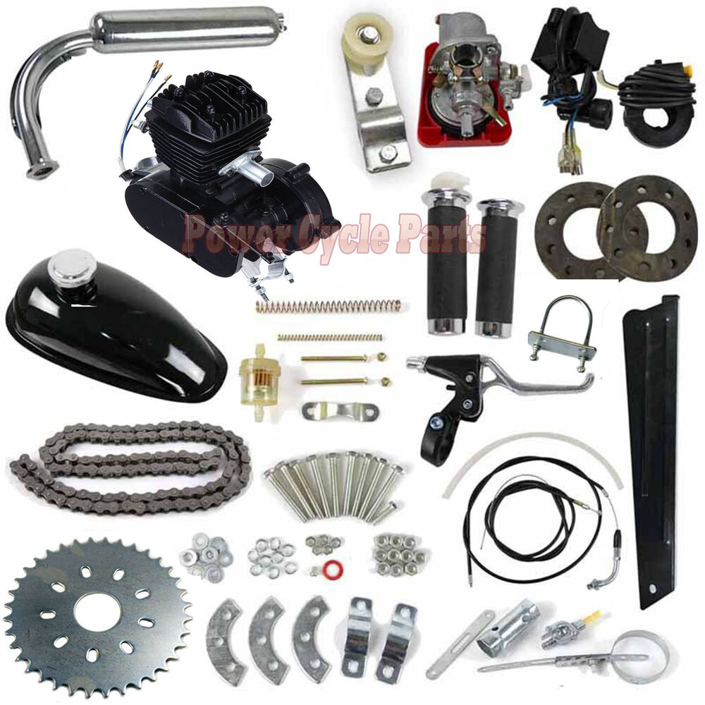 2 Stroke 80cc Motor Gas Engine Kit For Motorized Bicycle