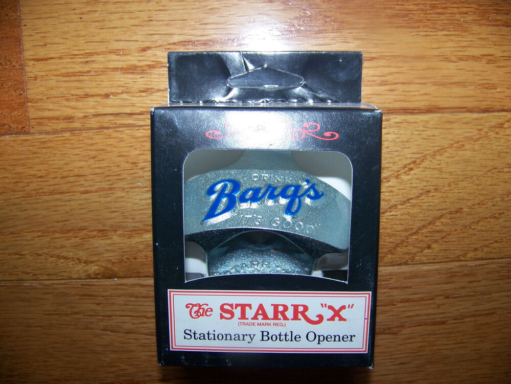 starr x wall mount bottle opener new in box barq 39 s rootbeer soda ebay. Black Bedroom Furniture Sets. Home Design Ideas