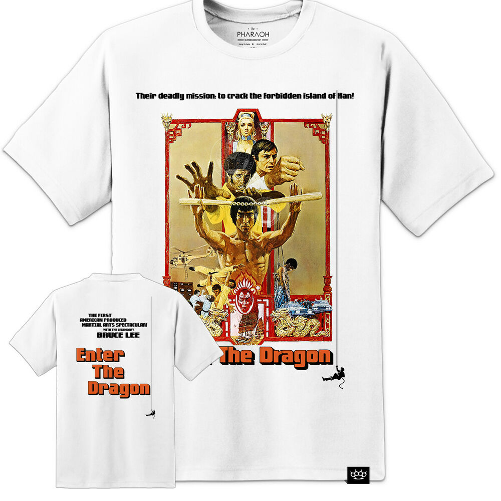 bruce lee enter the dragon t shirt movie poster huge print s 3xl ebay. Black Bedroom Furniture Sets. Home Design Ideas