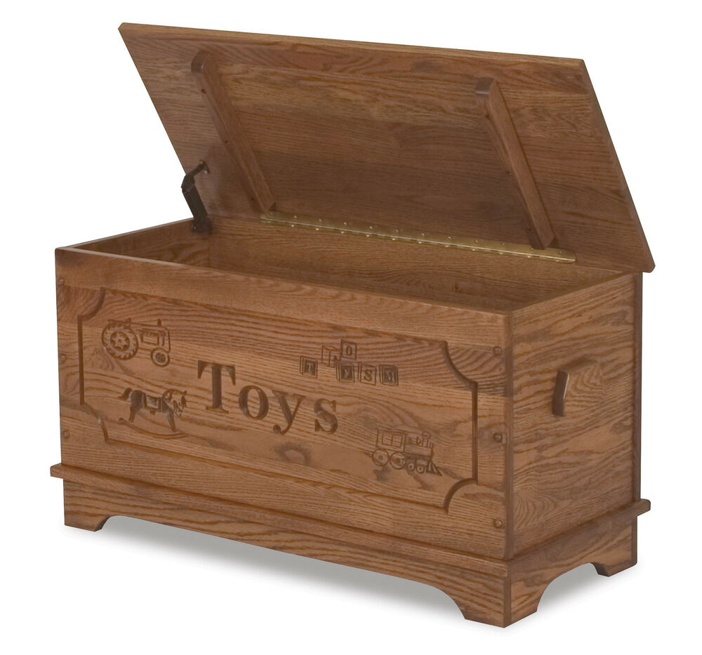 Amish toy box storage chest blanket trunk wooden wood