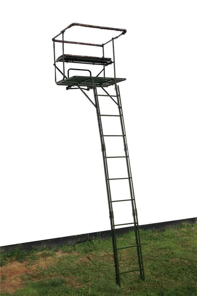 High Seat Double 2 Man Tree Stand Stalking Deer Hunting